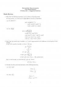 Intermediate Macroeconomics Ps1