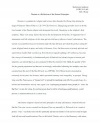 Daoism as a Reflection of the Natural Principles - Unit 1 Essay