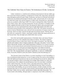 The Cathédrale Notre-Dame de Chartres - Unit 3 Essay
