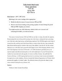 History final exam essays