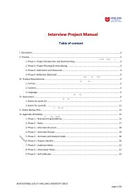 Interview Project Manual