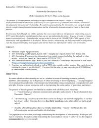 Relationship Development Paper
