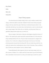 Chapter 2 Writing assignment