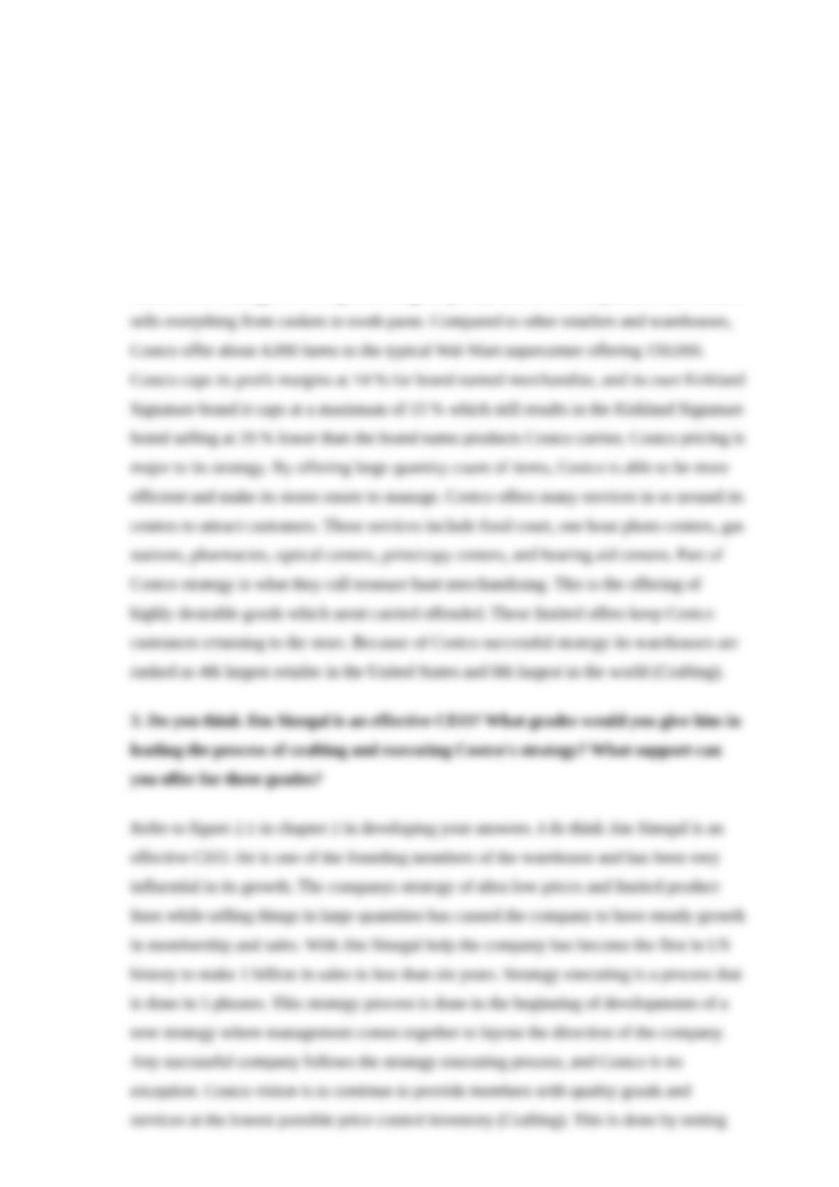 costco case study
